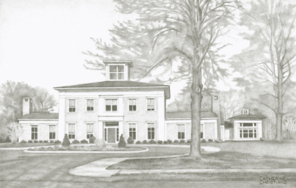 Drawing of Chandler Center, Lyme Academy College