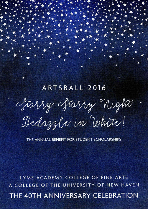 Lyme Academy College ArtsBall invitation