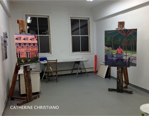 Link to open studios evening photos, Vermont Studio Center