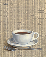 "Painting ""Coffee and the Paper"""